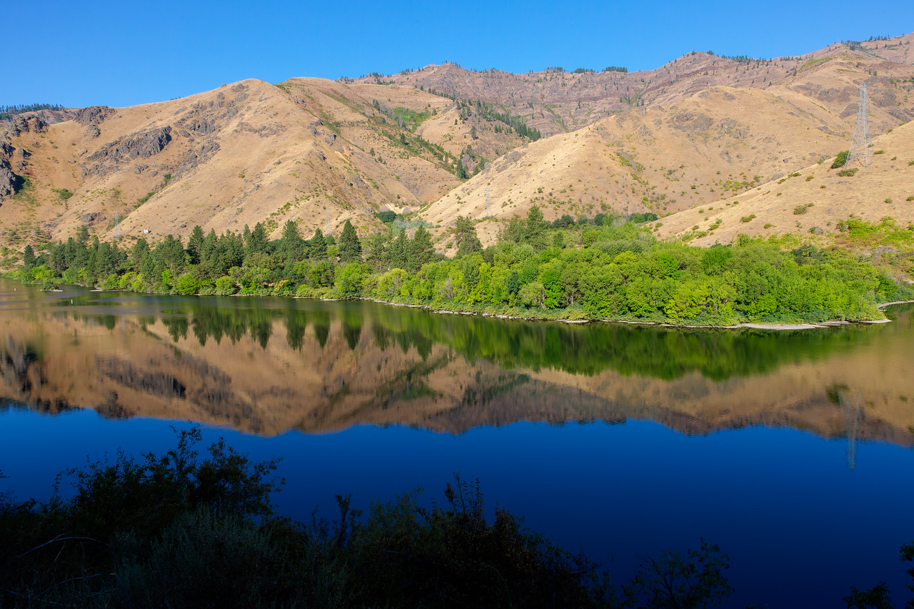 We arrived at the southern end of Hells Canyon as the sun broke over the mountains onto the river