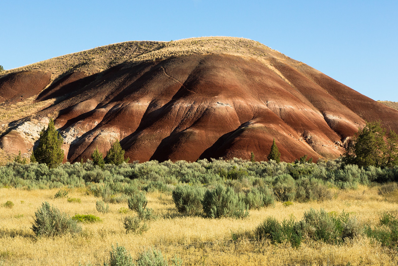 We headed east from Bend to visit an area known as the Painted Hills.