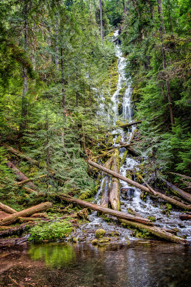 This is the second Proxy Falls which also was a harrowing scramble to get to and not nearly as attractive as the first Proxy Falls