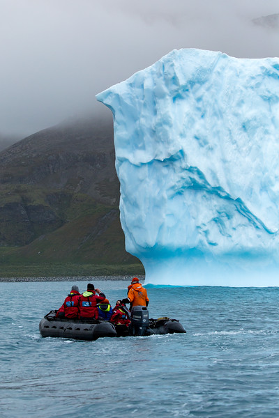 We viewed this giant iceberg from our Zodiacs.