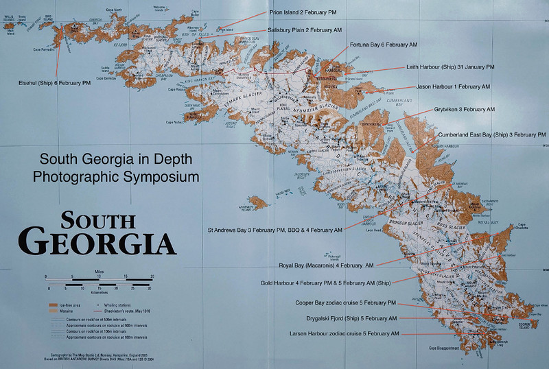 This map shows the locations and dates of the places  we visited during our expedition.