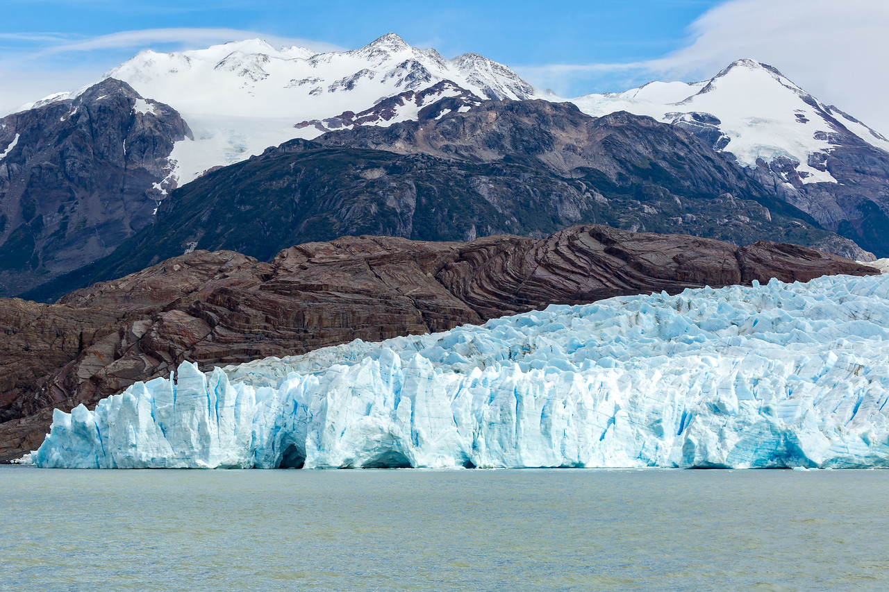 Glacier Grey is about 4 miles wide and 17 miles long. This is one of three ends of the glacier.