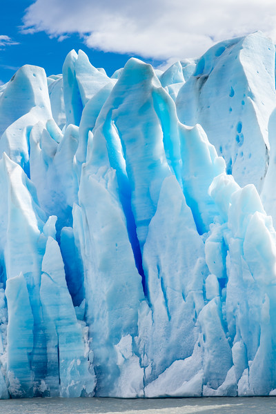 A 200-foot tower of blue ice.