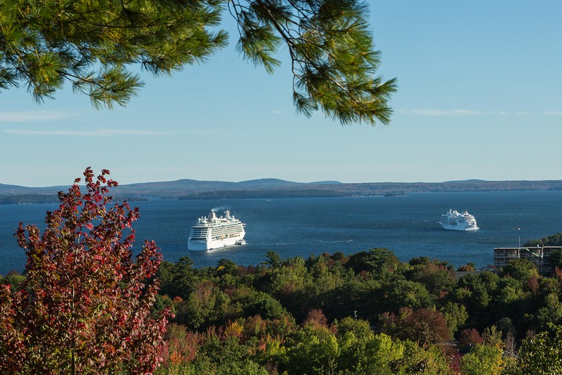 Above the town of Bar Harbor, Mt. Dessert Island