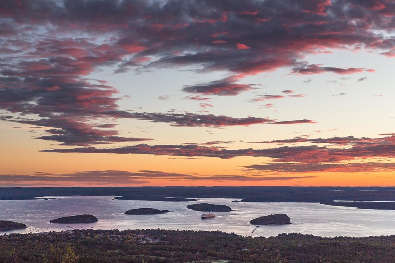 Porcupine Islands from Cadillac Mountain in Acadia National Park
