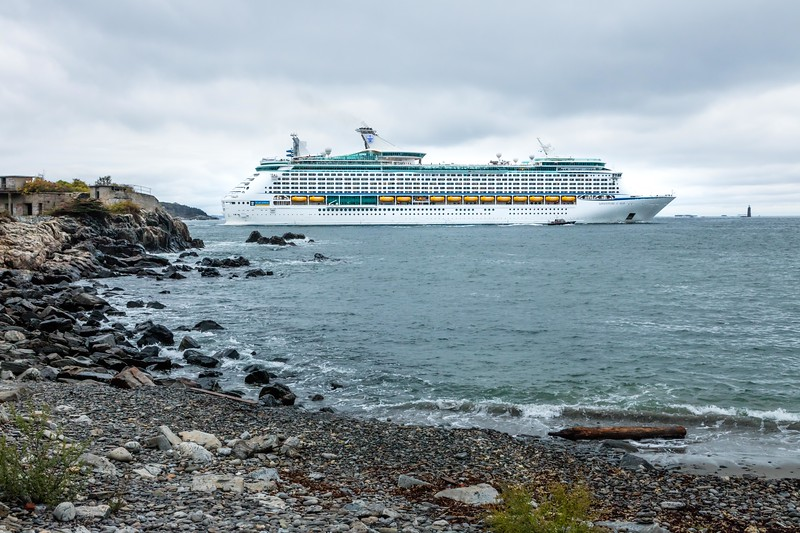 Portland is a popular stop for the big cruise ships.