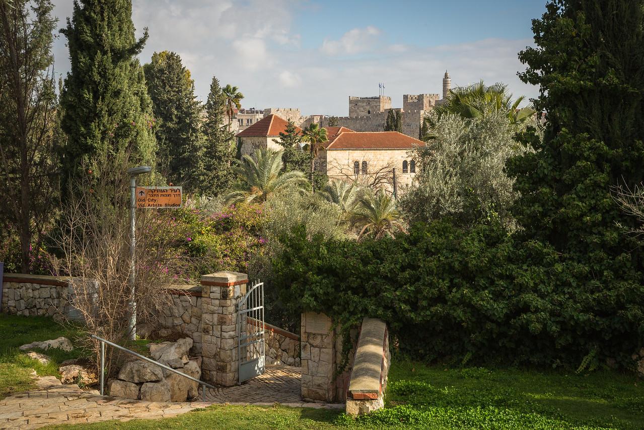 Approaching the Old City of Jerusalem