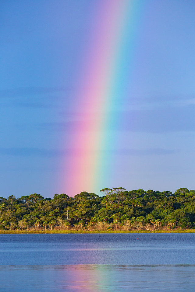 Brilliant rainbow over the Intracoastal Waterway
