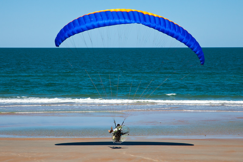 This is called powered paragliding which occurs along our beach