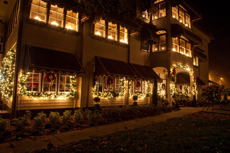 Rockefeller House at Christmas time