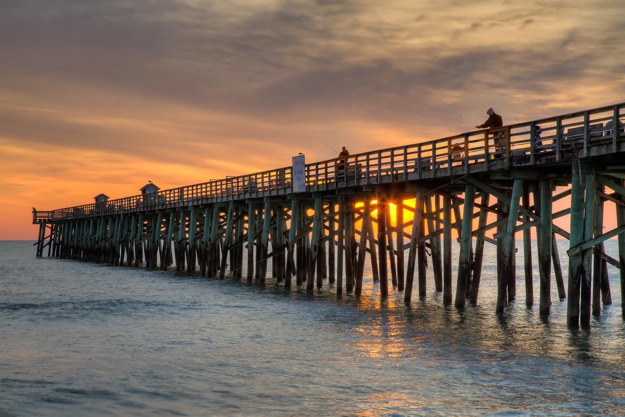 Flagler pier at sunrise