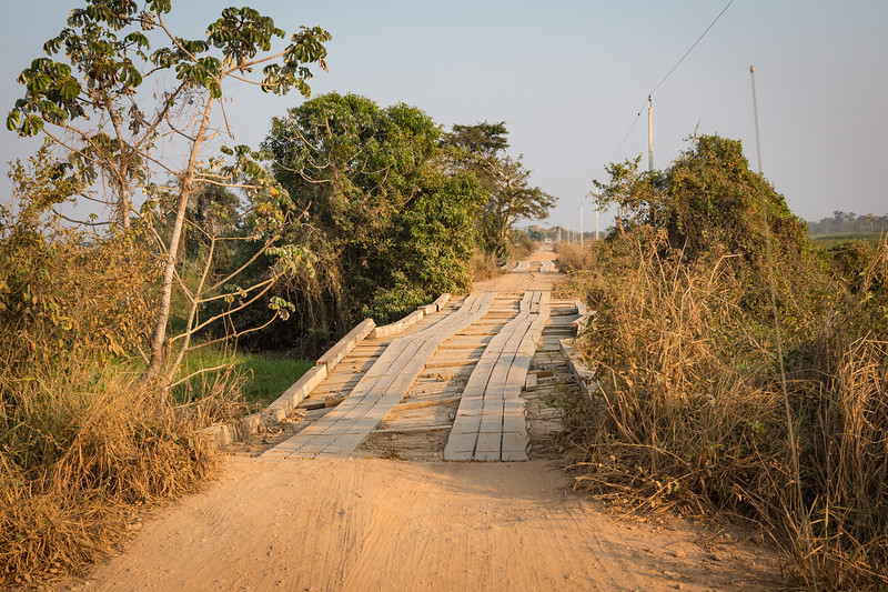 From Cuiaba we travelled by a small bus to the SouthWild Lodge. Here's a typical bridge that we crosssed, 122 times.