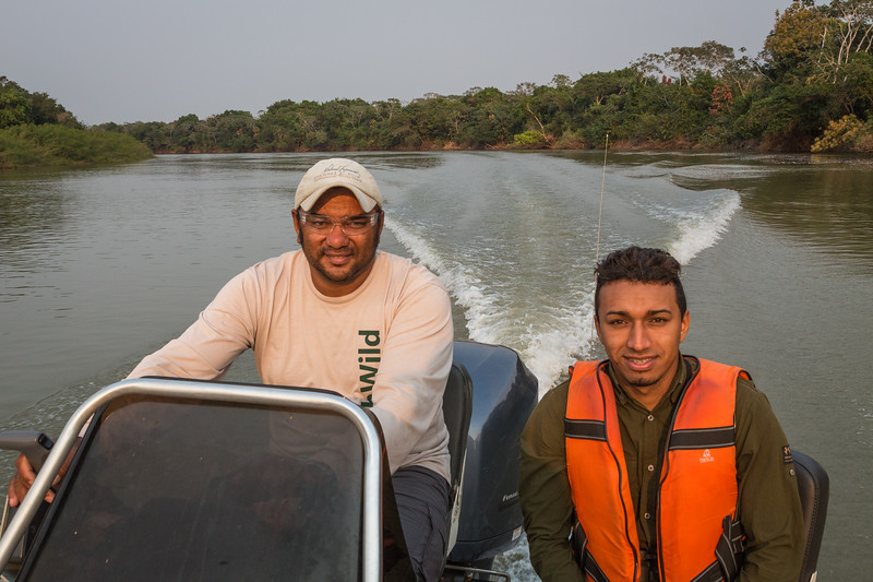 John, our boat driver on the left, and Lailson our guide on the right. Lailson was an outstanding guide throughout the trip.
