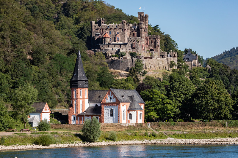 Reichenstein Castle overlooking the Rhine.