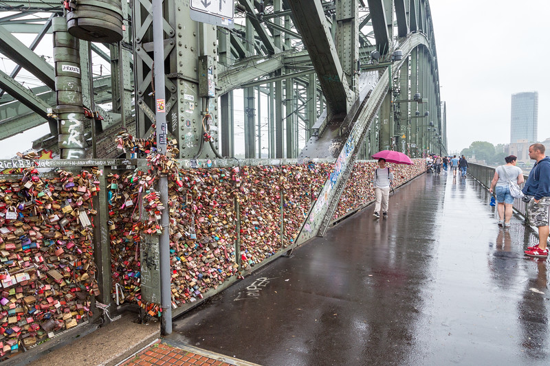 Our trip ended in Cologne. We walked along what is now called the Love Lock Bridge where thousands of locks have been placed.
