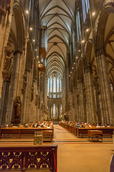 The Cologne Cathedral, a stunning edifice, was built over a 600-year period.