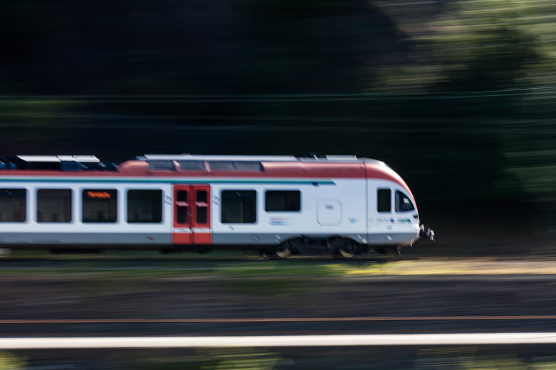 Another speeding train.
