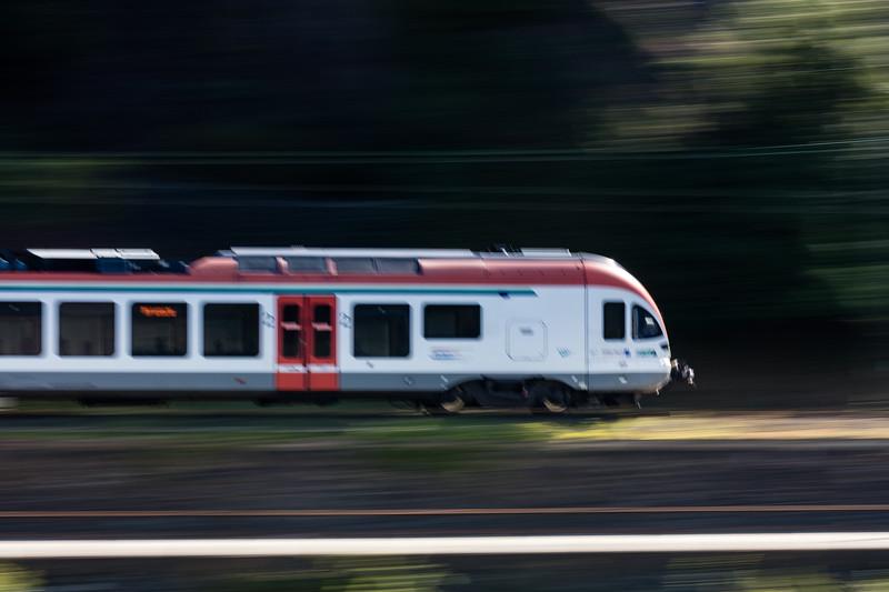 Another speeding train.