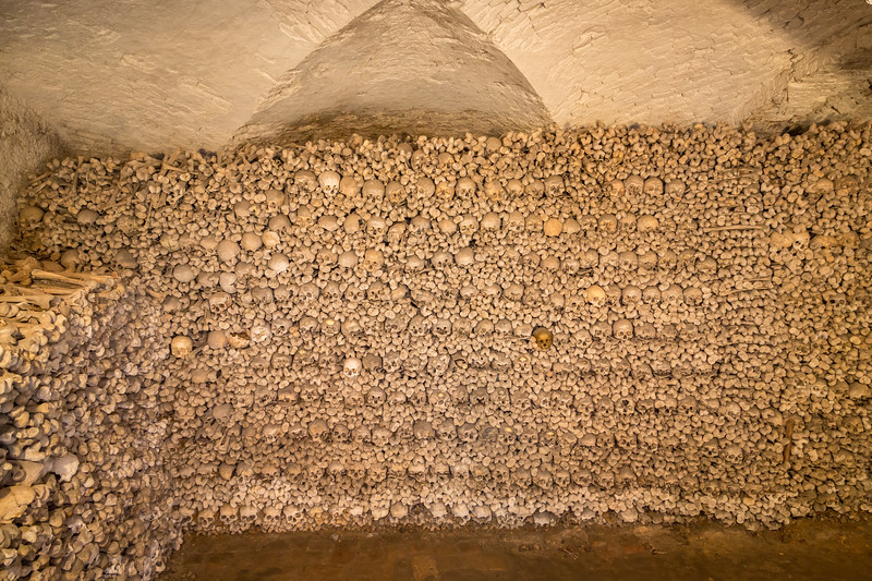 This is a collection of 20,000 bones from WWII victims. A chilling experience to see.