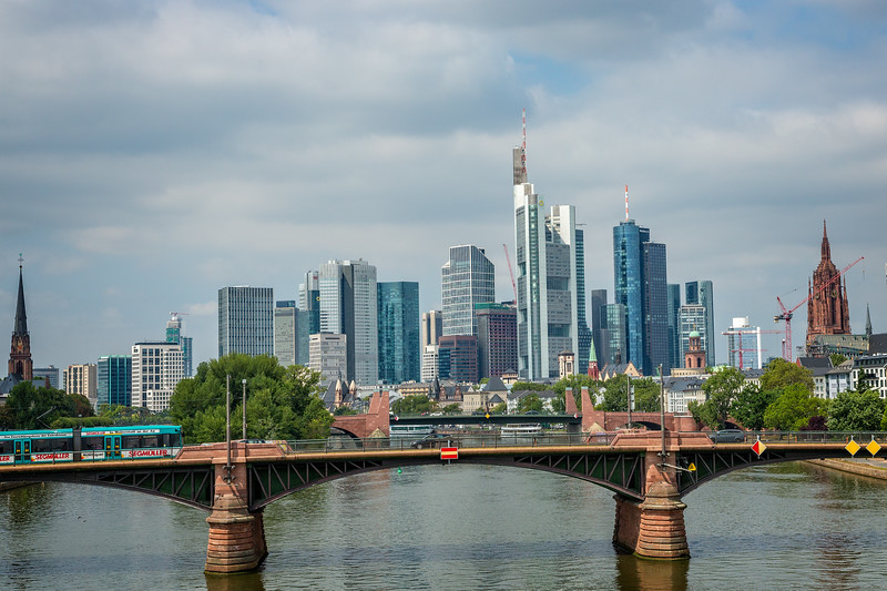 City skyline of Frankfurt am Main.