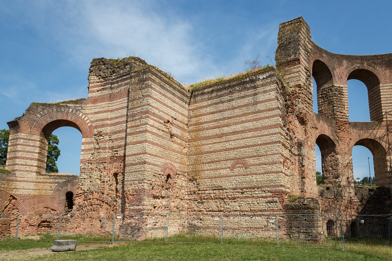 Trier was founded by the Romans in 15 B.C. Here are part of the ruins remaining today.