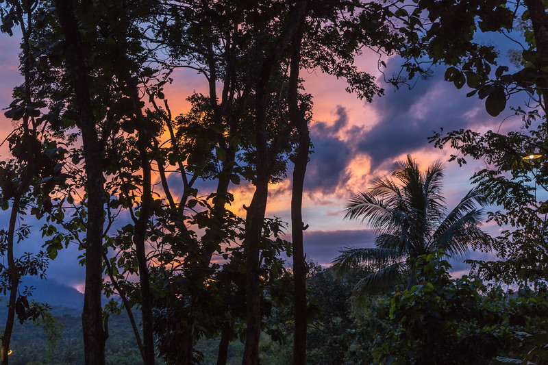 The setting sun on our stay in Java.
