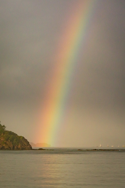 The morning of our departure we were greeted with this beautiful rainbow. Surely it was an omen for safe travels home.