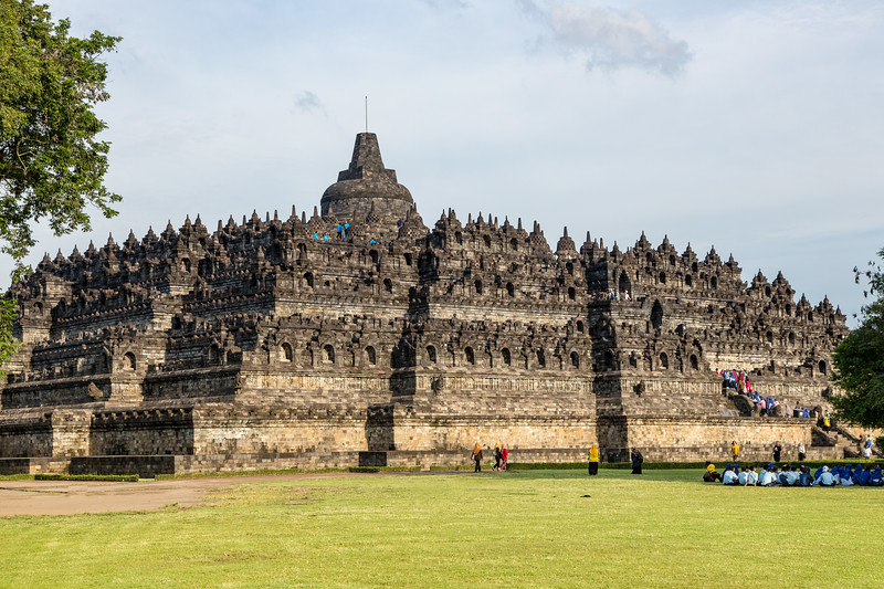 Borobudur Temple as we approached it in the afternoon.