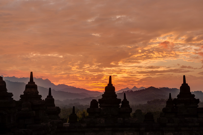 The Temple at sunset.