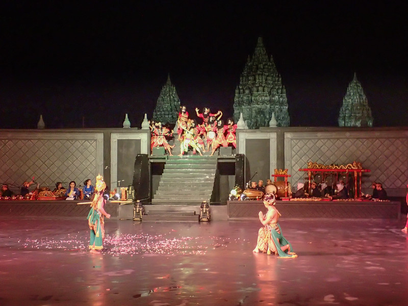 The ballet with the Temple in the background.