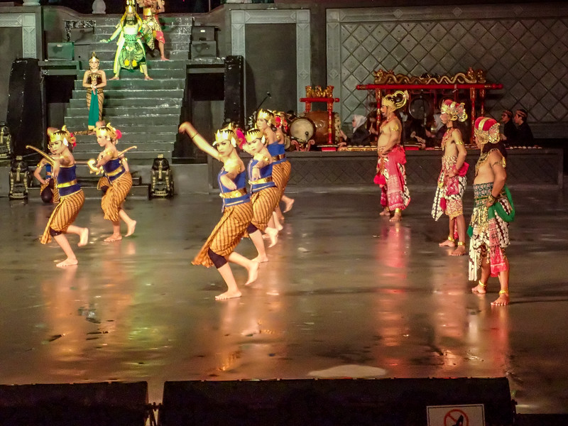 We attended a traditional Javanese ballet.