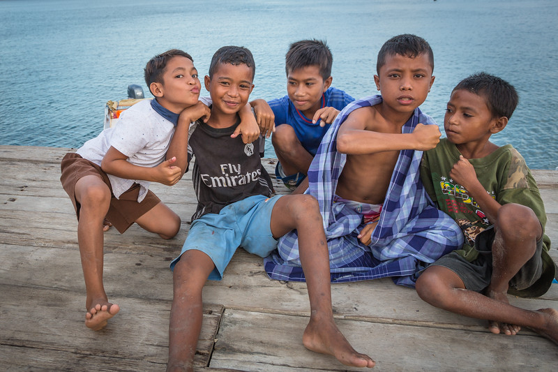 It was late afternoon when we arrived at Komodo Village to be greeted by this ornery group of boys.