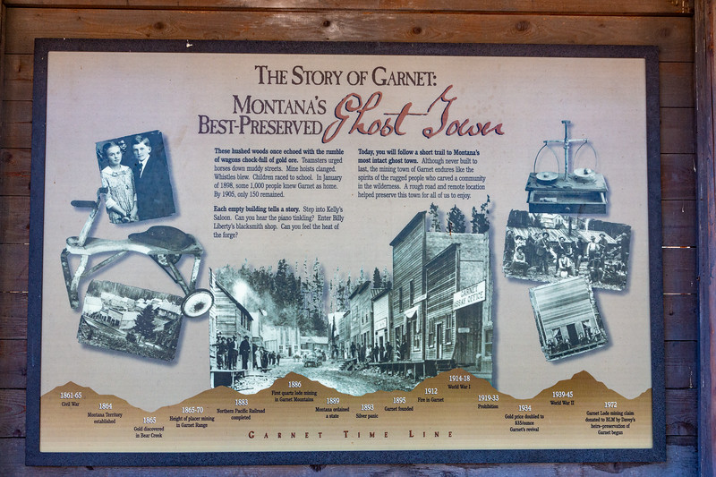 We found the Garnet Ghost Town tucked back in the mountains about an hour from Missoula.