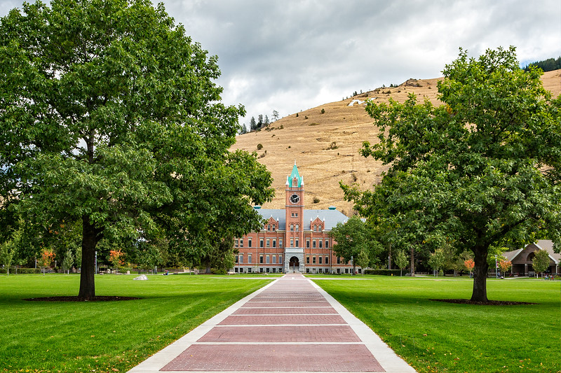 We flew into Missoula and visited the University of Montana.