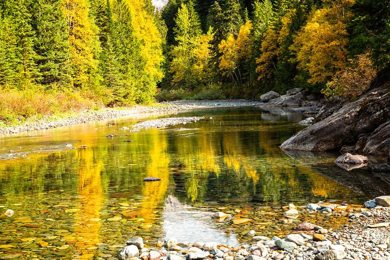 Reflections on McDonald Creek.