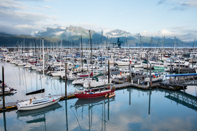 The Seward Marina from our hotel window