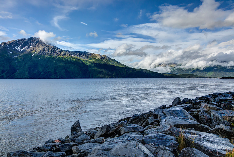 The Turnagain Arm of the Cook Straits outside Anchorage.
