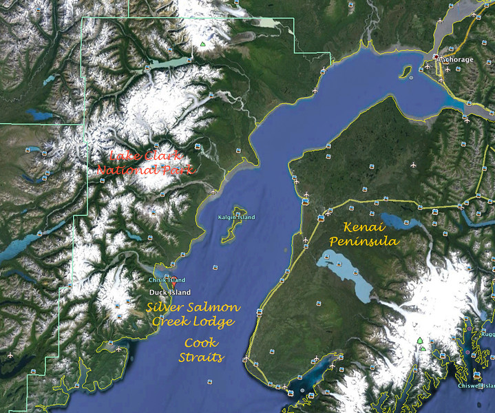 We flew from Anchorage to Silver Salmon Creek Lodge