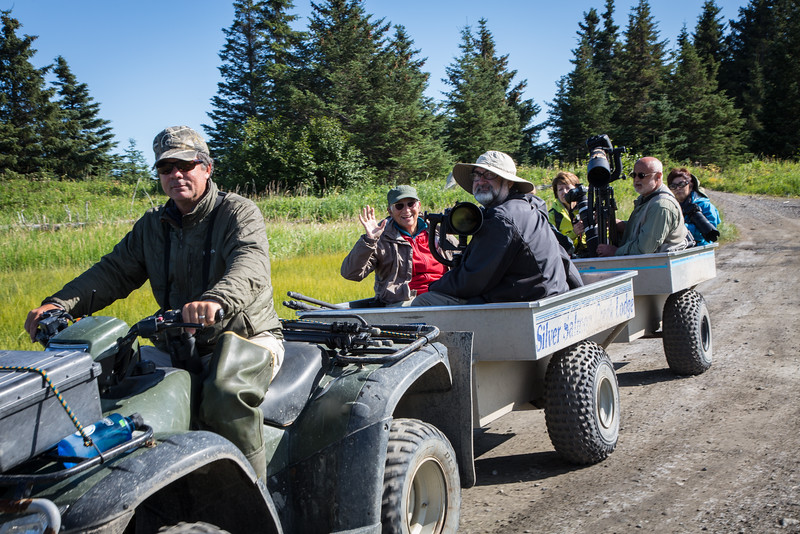 Here's how we traveled around the property hunting for bears