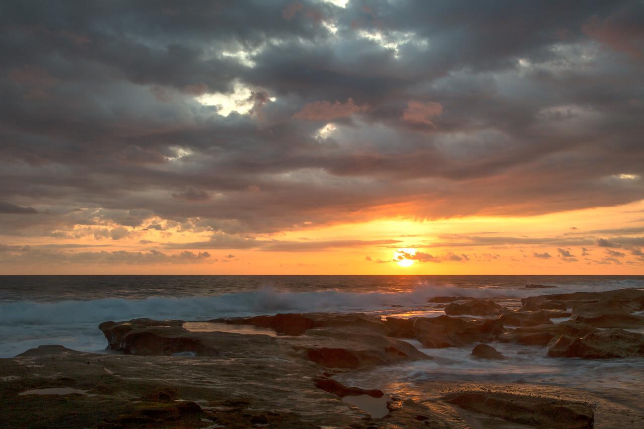 Tidepools at sunset
