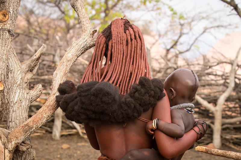 Elaborate hair style of married women