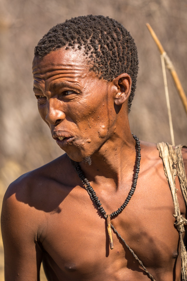 Bushmen speak with 7 different clicks in their language called Khoisan (see YouTube for an example)