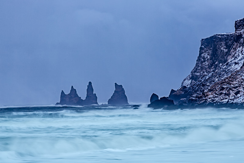 Sea stack at Reynisfjara Beach