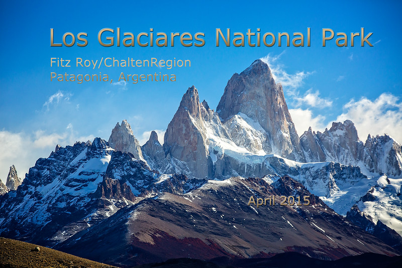 This is Fitz Roy Chalten mountain and its surrounding peaks.