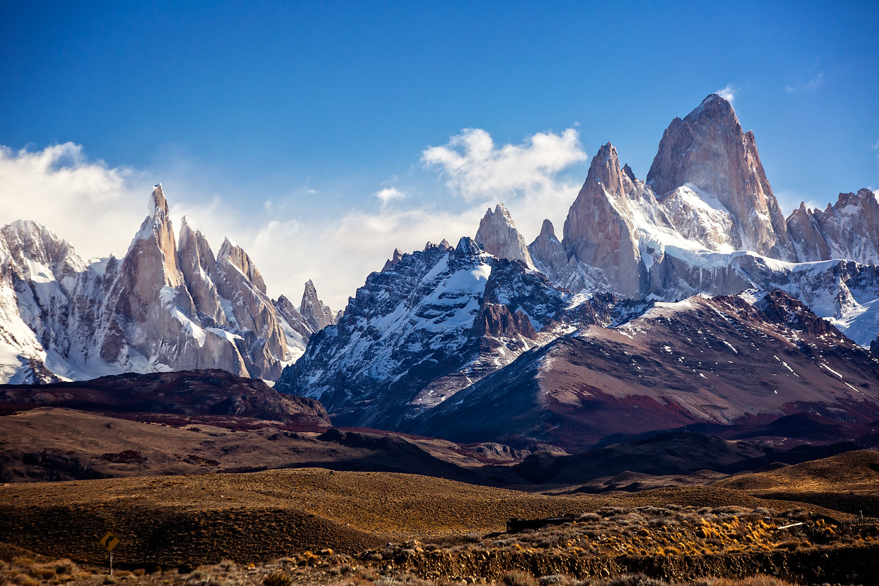 Back in the bus and on toward El Chalten, but we soon stopped again as the view of Fitz Roy just kept getting better and better.