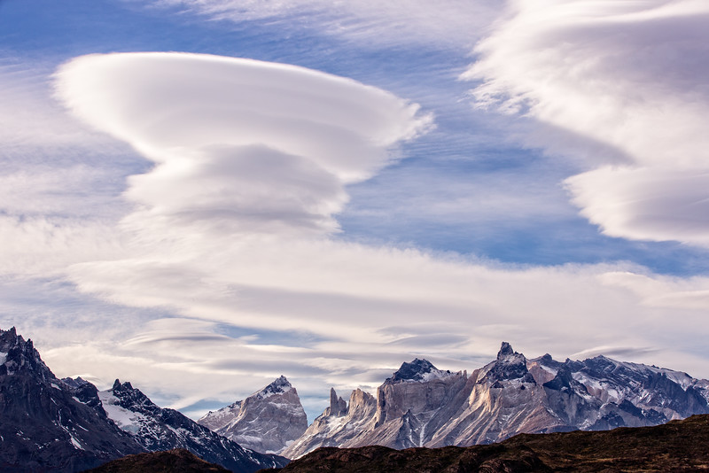 And these remarkable lenticular clouds.