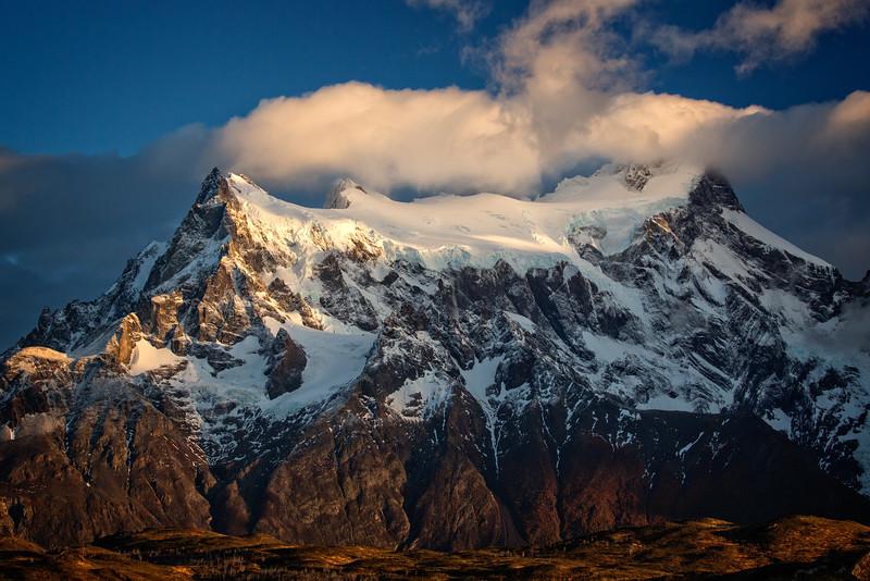 Early morning light on Cerro Paine Grande.