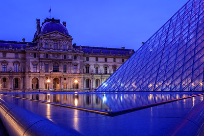 Reflections at the Louvre Museum in Paris,