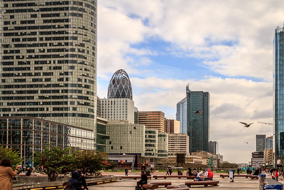 Another view of the commercial center of Paris called La Défense.