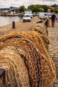 Drying fishing nets